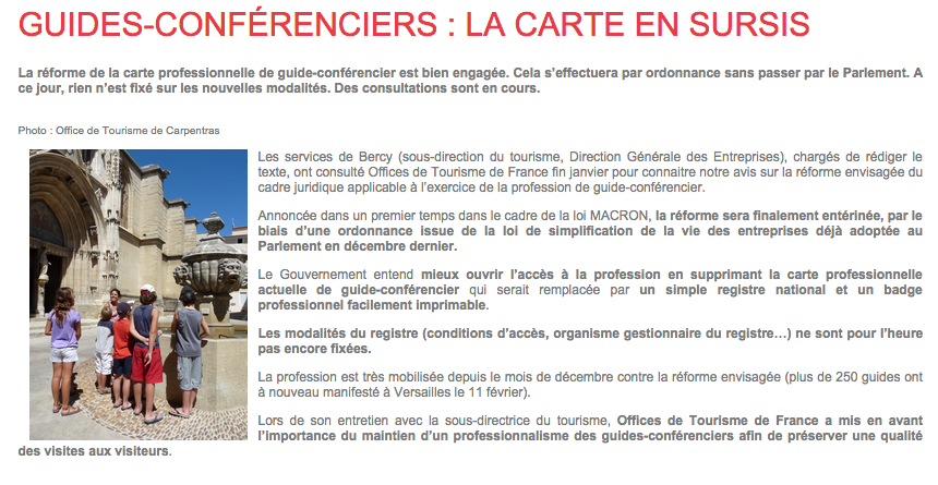 La Carte De Guide En Sursis Telecharger Le Document DOffices Tourisme France
