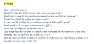 Questions à poser en boutique