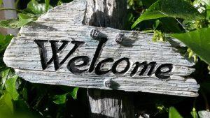 Panneau Welcome