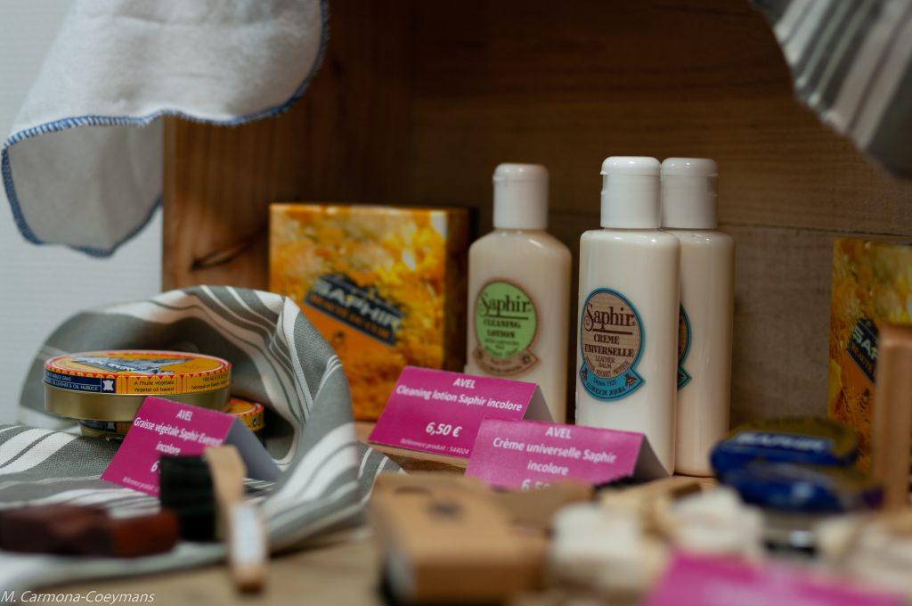 Collection de produits cosmétiques de la boutique éphémère de l'office de tourisme Sud Charente