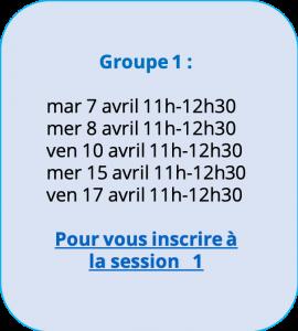 Programme de professionnalisation spécial confinement - groupe 1
