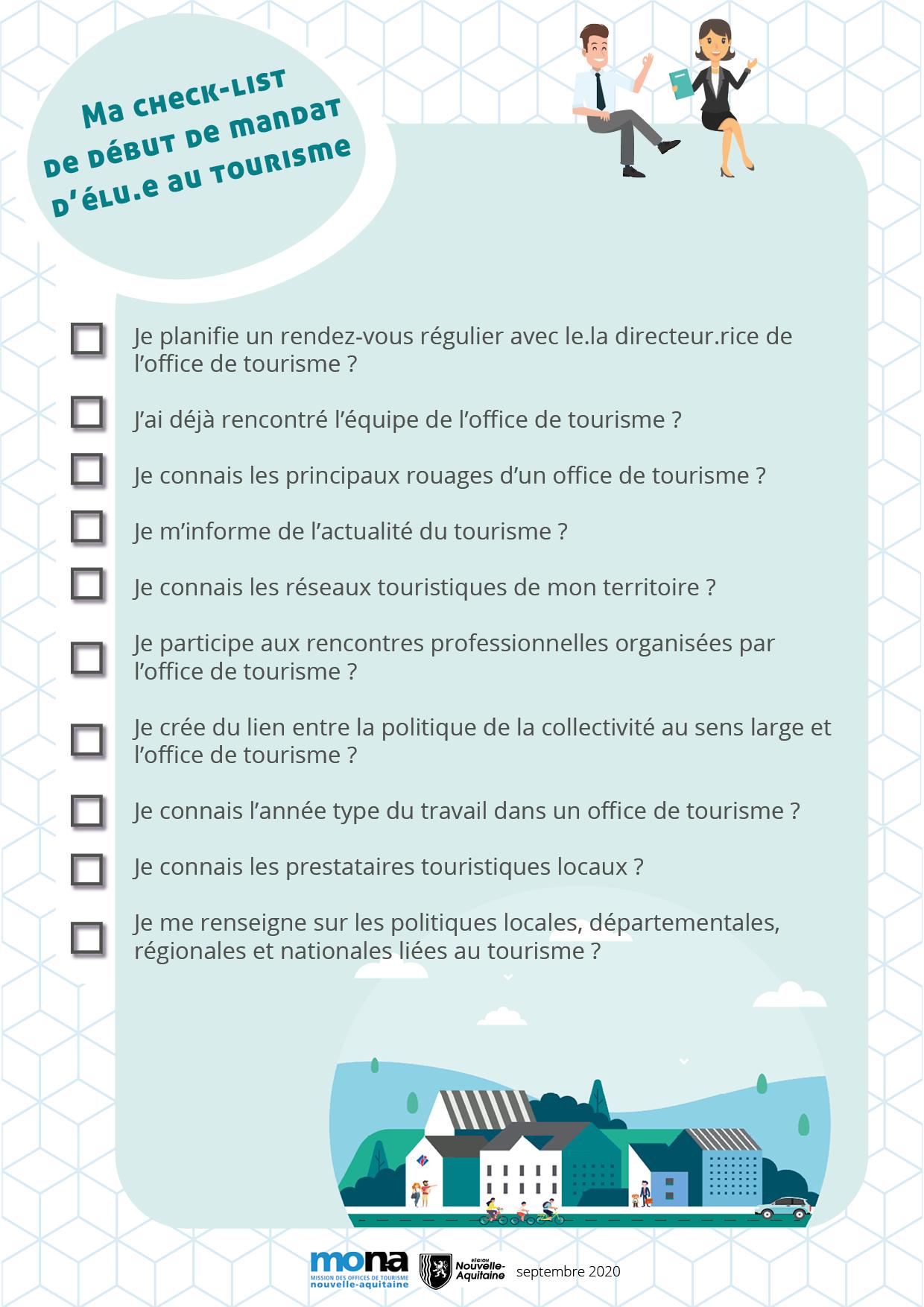 Check-list d'élu.e au tourisme pour bien démarrer