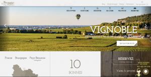 Page web de L'Office de tourisme de Beaune et du Pays Beaunois