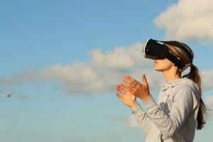 paysage avec casque virtuel