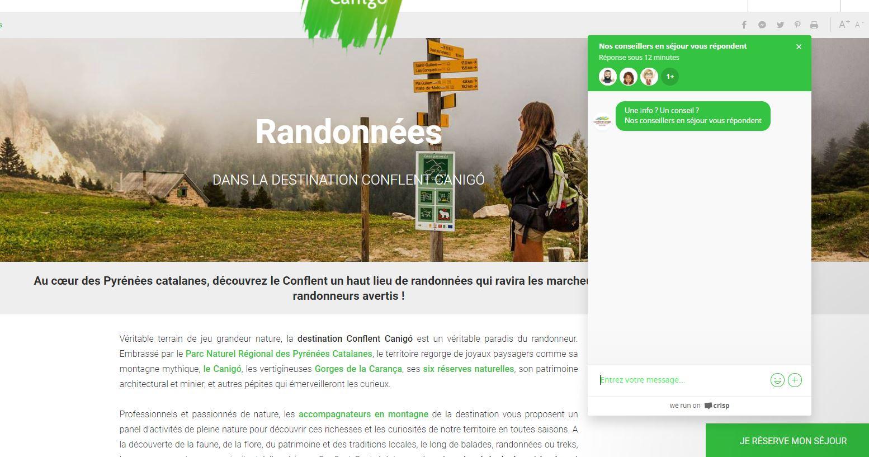 Tchat page randonnées OT conflent canigo