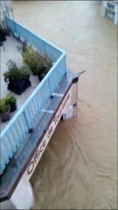 l'office de tourisme de Salies-de-Béarn inondé
